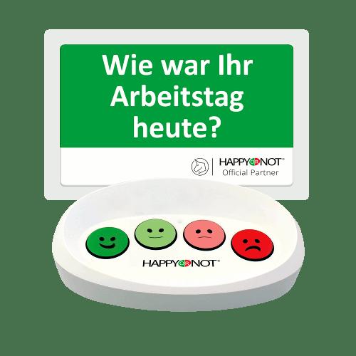 HappyOrNot Happy Or Not Smiley Terminal Gerät Buttons Wie war Ihr Arbeitstag heute Mitarbeiterbefragung Umfrage Mitarbeiter