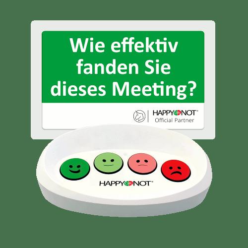 HappyOrNot Happy Or Not Smiley Terminal Gerät Buttons Wie effektiv fanden Sie dieses Meeting Mitarbeiterzufriedenheit Bewertung Besprechung