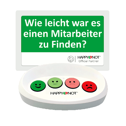HappyOrNot Happy Or Not Smiley Terminal Gerät Buttons Wie leicht war es einen Mitarebiter zu finden Kundenzufriedenheit Einzelhandel