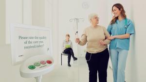 Happy Or Not HappyOrNot Patienetenbefragung Krankenhaus Feedback Qualitätsmanagement Ärzte Praxis OP Klinik Reha