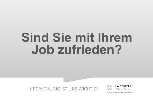 Sind Sie mit Ihrem Job zufrieden Happy Or Not HappyOrNot Smiley Terminal Question Sheet Frageblatt