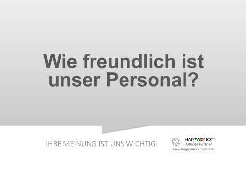 Wie freundlich ist unser Personal Happy Or Not HappyOrNot Smiley Terminal Question Sheet Frageblatt