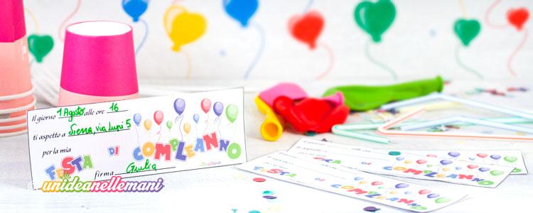 Biglietti Invito Compleanno Per Bambini Da Stampare