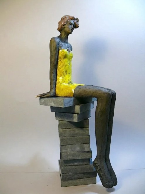 du Plessis, baigneuse au maillot jaune, Ze Art Galerie