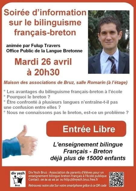 Soirée d'information sur la filière bilingue breton-français Bruz