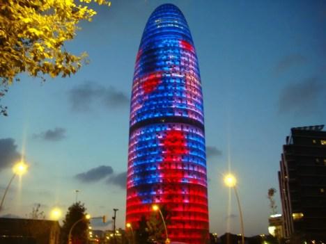 La tour Agbar, Barcelone
