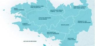carte bretagne région tourisme
