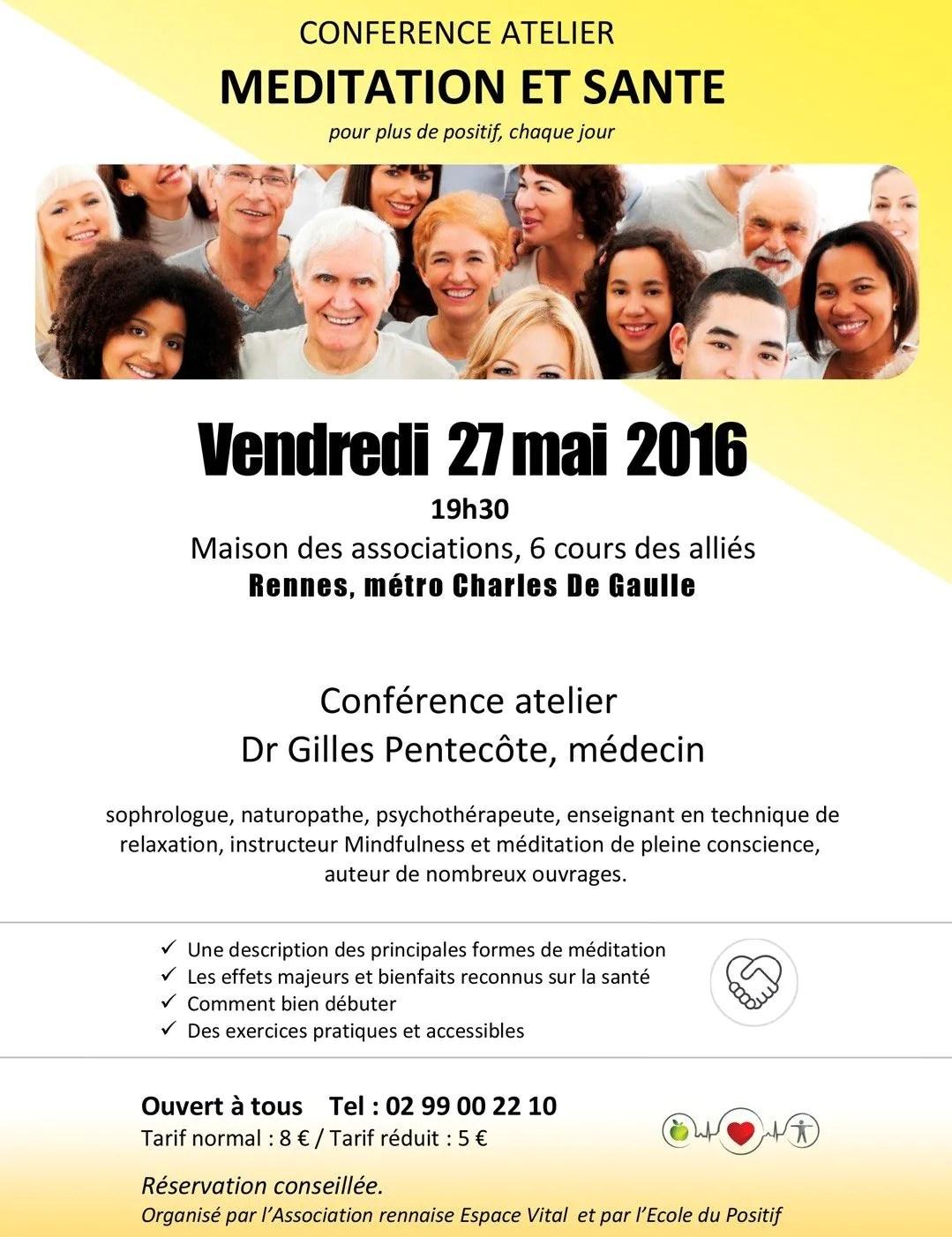 Méditation et santé Rennes