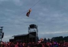 Tyrolienne Hellfest 2016