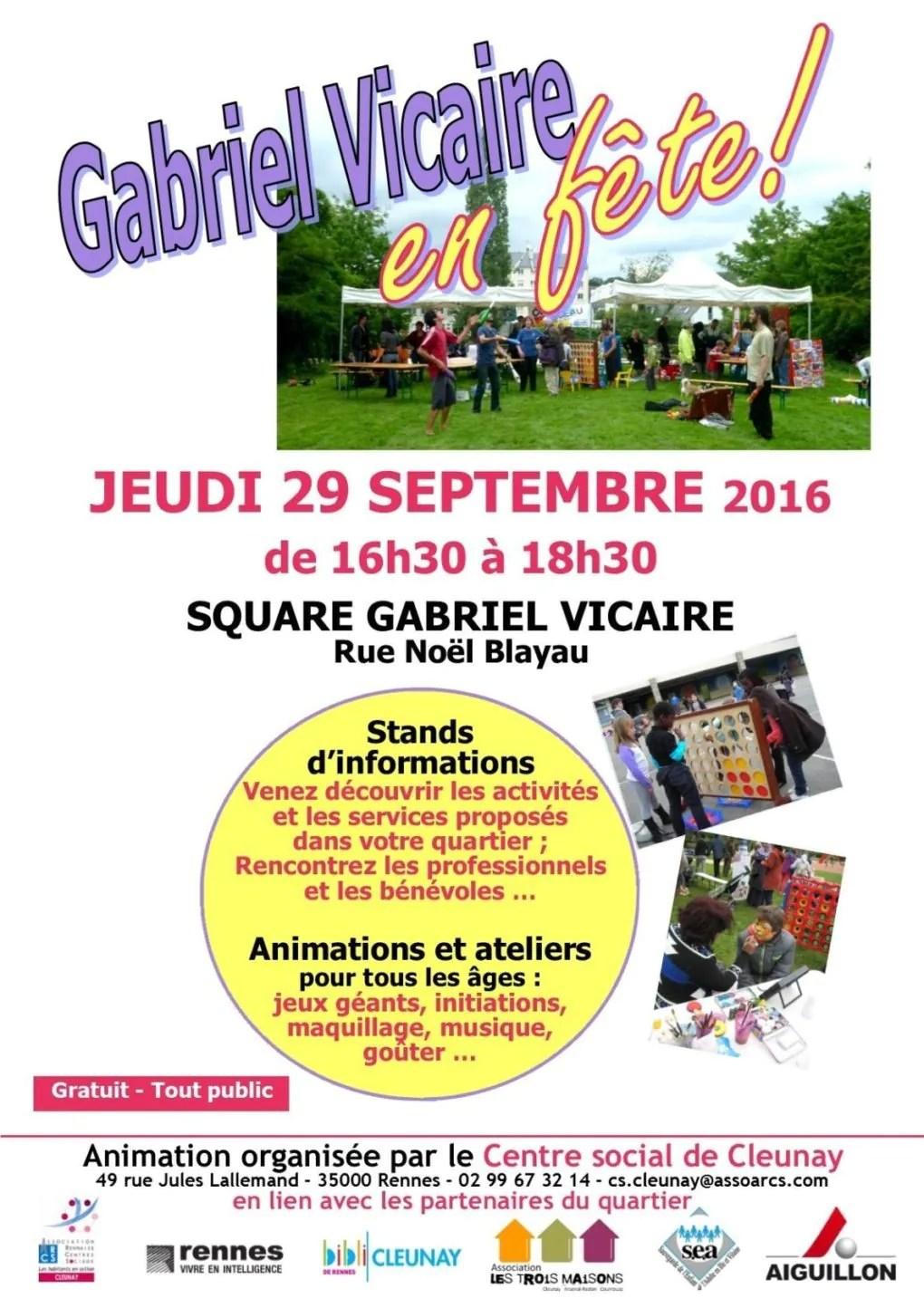 Square Gabriel-Vicaire en fête ! Rennes