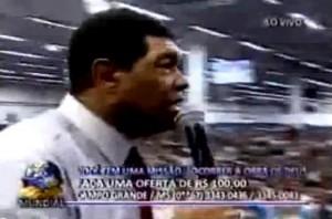 Valdemiro Santiago bravo com o Programa Pânico na TV