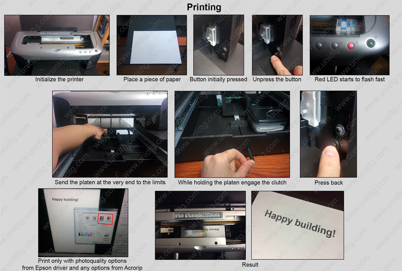DIY DTG manual based on Epson 2100/2200