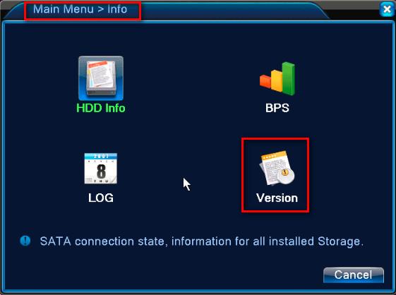 DVR Firmware Sürümü