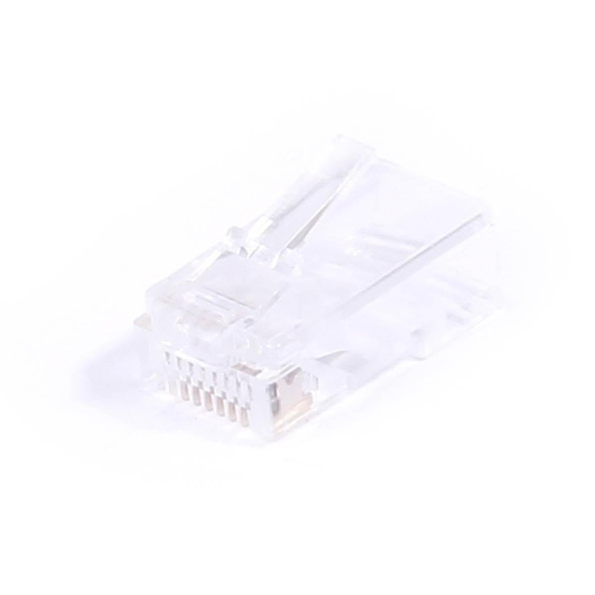 Connecteur Rj45 8p8c Cat 5e Utp Cable Rond Sachet De 50