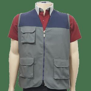 Chaleco-hombre-encuestador-gris-azul-frente