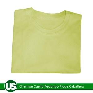 chemise-cuello-redondo-pique-caballero-amarillo