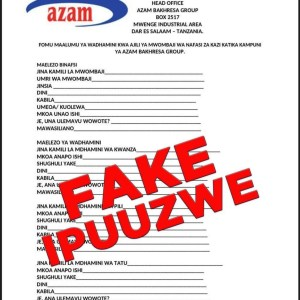 Azam Notice About Fake Job