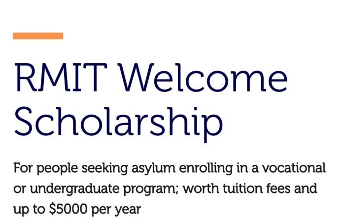 RMIT Welcome Scholarship To Study Australia 2022