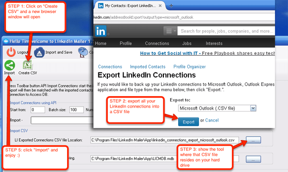 Share your existing contacts on your LinkedIn