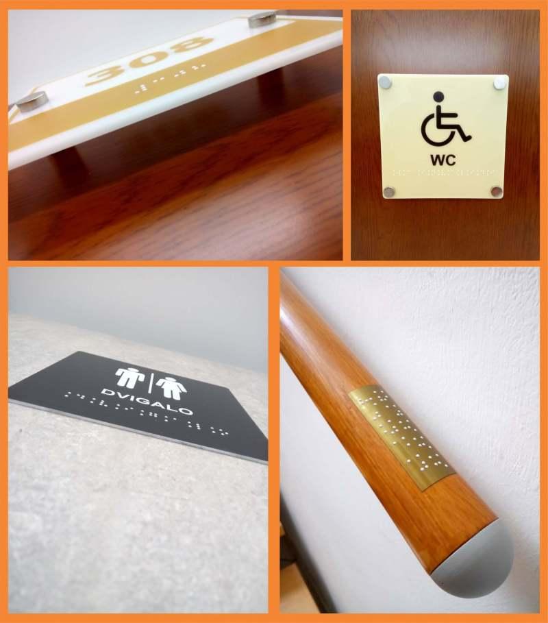 Oznake z brajico za slepe