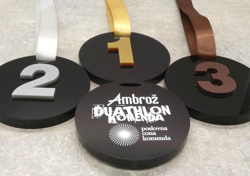 Medalje za duatlon Komenda