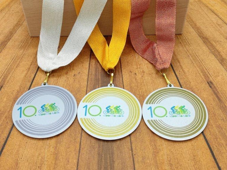 Kovinske medalje po naročilu za Vzpon na Lubnik 2021