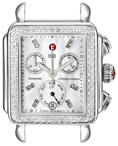 #MICHELE Women's MW06P01A1046 Deco Diamond-Accented Stainless Steel Wat...