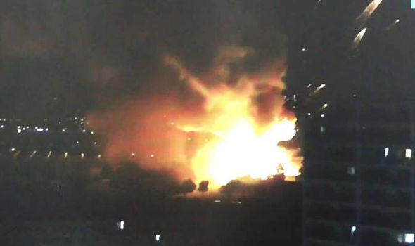 Huge Explosion At Arms Depot Sends Fireballs Into The Sky