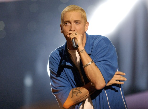 Slim Shady Teases Surprise To Mark The 15th Anniversary Of The Eminem Show GettyImages 104804546