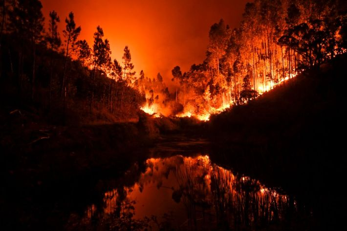 Plane Crashes While Trying To Help Extinguish Portugal Forest Fire GettyImages 697136668