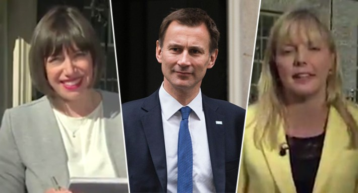 Two Reporters From Different Channels Called Jeremy Hunt A C*nt Hunt face