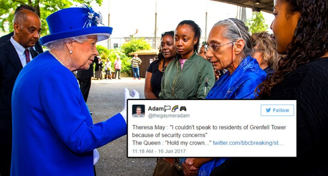 The Queen Visits Grenfell Tower Victims Despite Theresa Mays Security Concern Excuse akn1092
