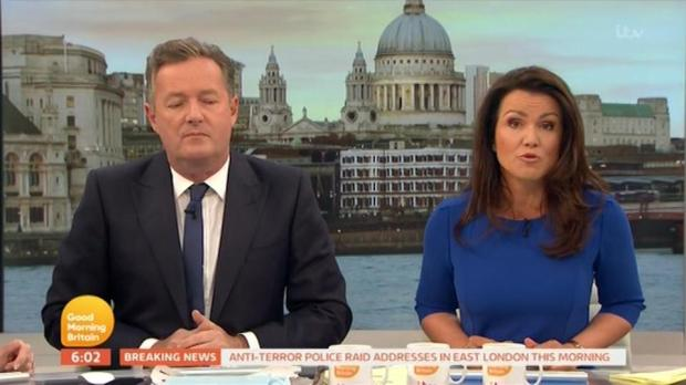 Piers Morgan Loses It On Live TV During London Terror Attack Interview gmb presenter susanna reid reveals lorraine will be cancelled for extended episode after london bridge terror attack itv sd ts  00 00 19 18 still003