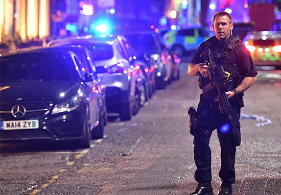 Stabbed Officer Took On Armed Terrorists With Baton To Defend People london b web
