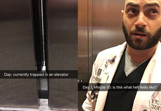Doctor Stuck In Lift Goes Viral Thanks To Sensational Snapchat Story 10 mins