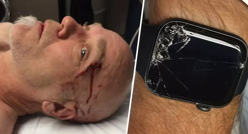 Man saved by apple watch