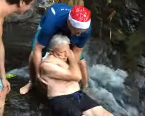87-year-old man becomes oldest to slide down waterfall in Costa Rica