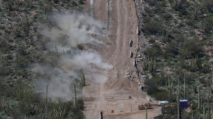 Controlled detonation at Organ Pipe Cactus National Monument