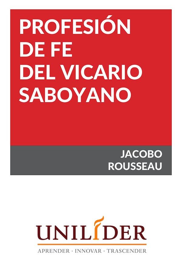 Profesión De Fe Del Vicario Saboyano