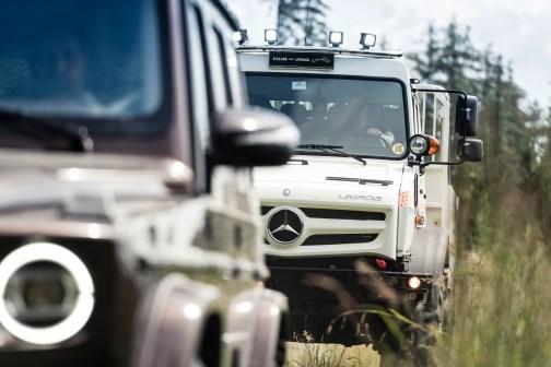 Unimog und G-Klasse: Gipfeltreffen der Gelände-Giganten Unimog and G-Class: summit of the off-road giants