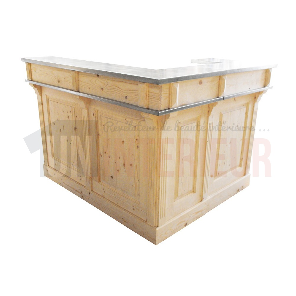 comptoir de bar d angle avec evier 190