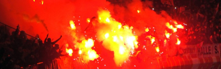 Fiery Union fans at Olympiastadion