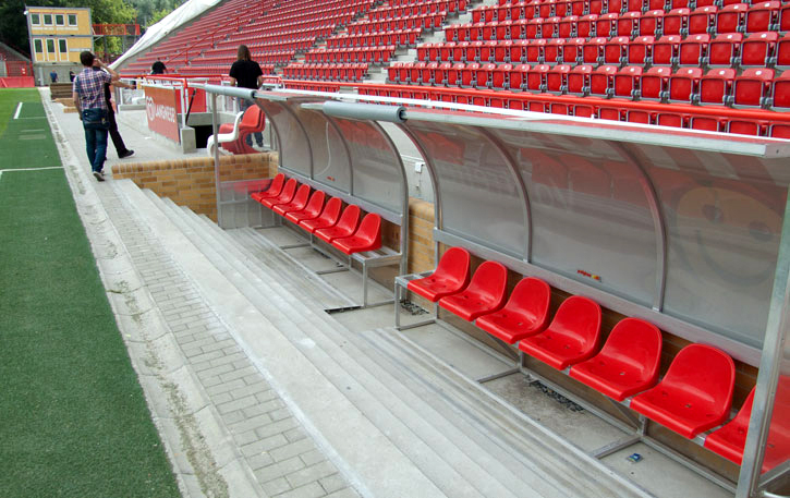 See the dugouts from up close