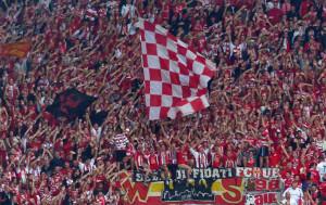 Union fans in Dresden
