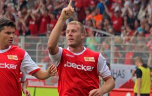Adam Nemec celebrates his goal vs. FC St. Pauli