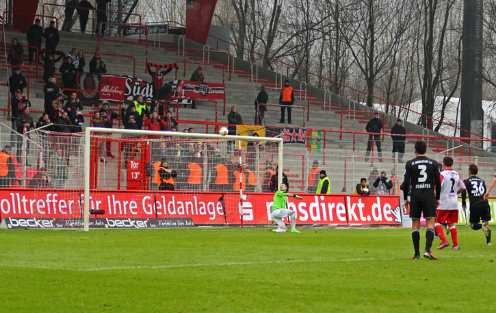 Saved by the bar vs. Ingolstadt, February 2013