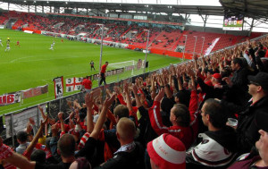 Union fans in Ingolstadt - long way down the A9