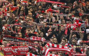 Union fans in Cottbus