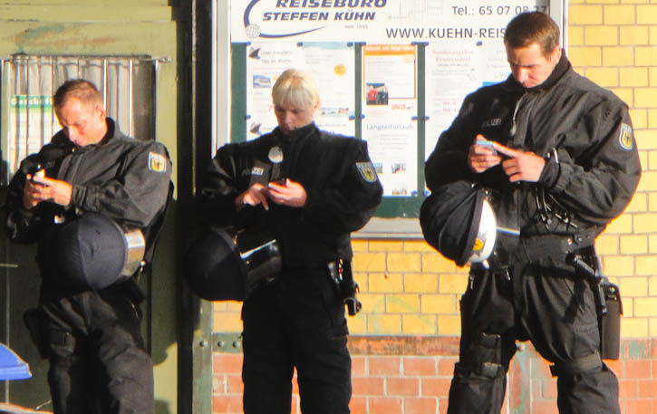 Police at S-Bahnhof Köpenick