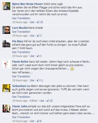 03 - Comments at Die Eisernen on facebook